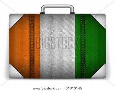 Ireland Travel Luggage With Flag For Vacation