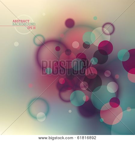 Retro abstraction with circles. Vector illustration.