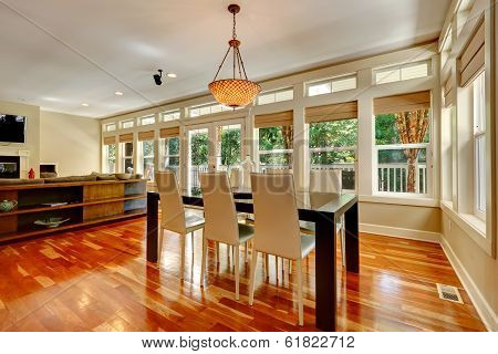 Elegant Dining Table Set In Spacious Living Room