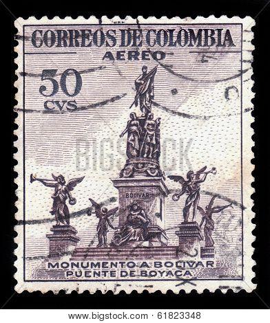 Monumento A Bolivar, Puente De Boyaca In Colombia