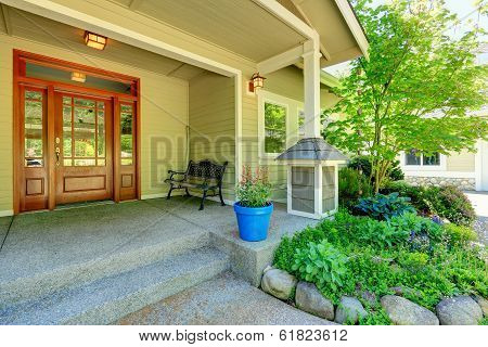 Nice Porch With Antique Bench