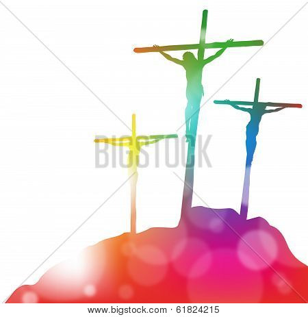 Jesus Christ On The Cross In Abstract