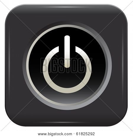 black button over white background. Vector
