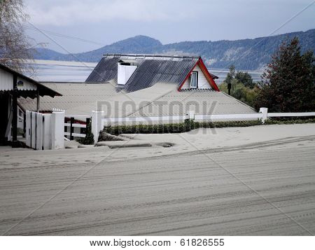 House With Volcanic Ashes