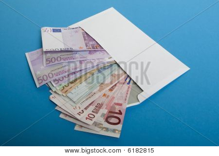 Bank Notes In The Envelope