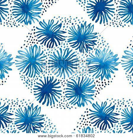 Traditional ceramics Asia pattern. Cobalt blue.