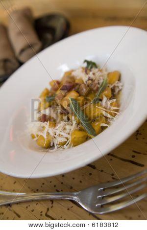 Pumpkin Gnocchi With Pancetta And Sage