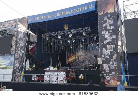 Revolution Stage In Kiev, Ukraine