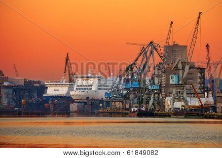 Sea Port And Shipyard
