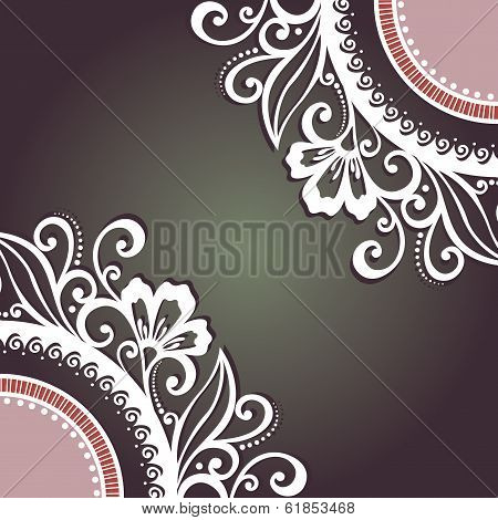 Vector Colored Floral Background