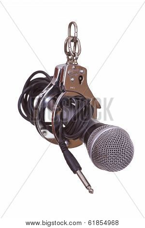 Microphone Captured With Handcuffs