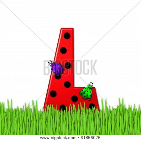 Alphabet Lady Bug Red L