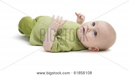 Toddler Isolated On White Background