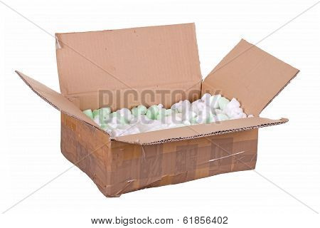 Cardboard Box With Styrofoam