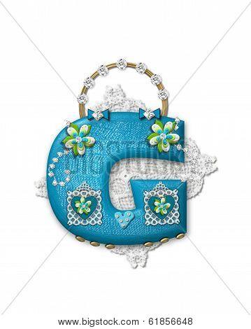 Alphabet Bling Bag G