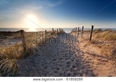 Sand Path To North Sea Beach