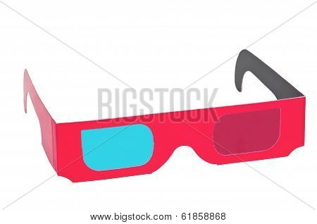 Isolated 3D Anaglyph Eyewear