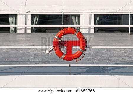 Ship Detail Close With Life Belt