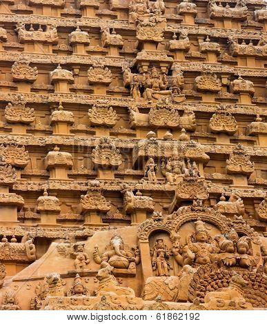 Element Of Bas-relief  Temple Brihadishwara, India, Tamil Nadu, Thanjavour