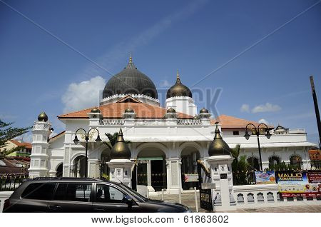 Kapitan Keling Mosque Left Facade