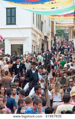 City of Mahon, Menorca, Spain - September 8: Fiestas de La Mare de Deu de Gracia festival
