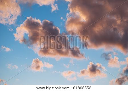 Background from clouds.