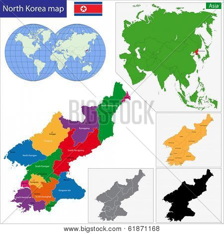 Map of administrative divisions of North Korea