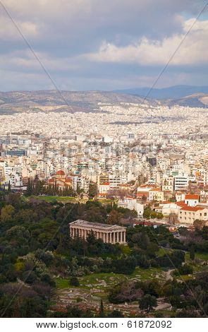 Scenic View Of Athens, Greece