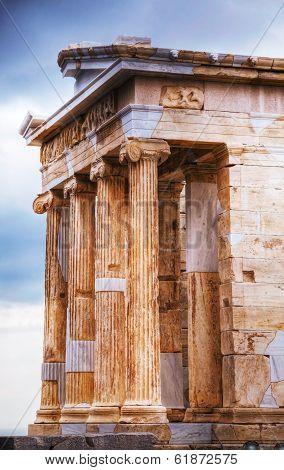 Temple Of Athena Nike Close Up At Acropolis