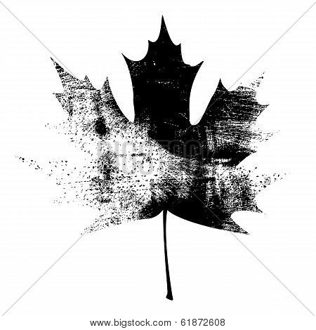 Grunge Maple Leaf - Black.jpg