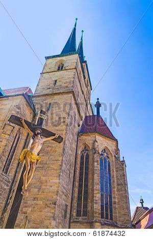 Jesus On The Cross At The Dome In Erfurt