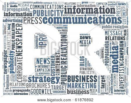 Public Relation on word collage