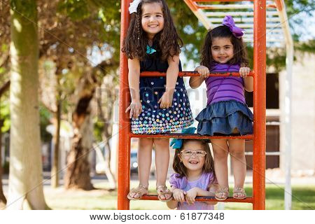 Little girls having fun together