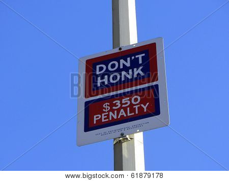 Don't Honk Sign