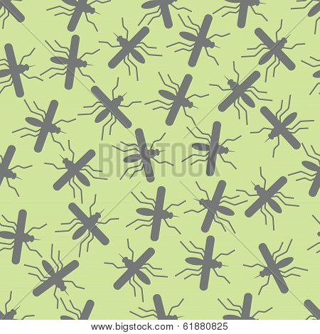 seamless background: mosquito