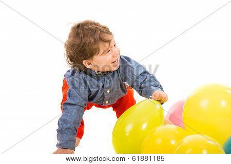 Laughing Toddler Looking Away