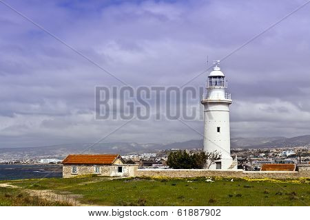 Old lighthouse at Paphos, Cyprus.