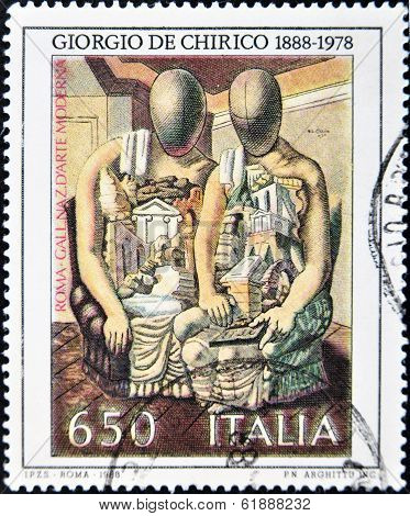 ITALY - CIRCA 1988: A stamp printed in Italy shows the work