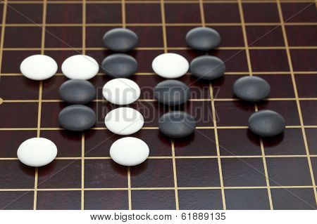 Position Of Stones During Go Game