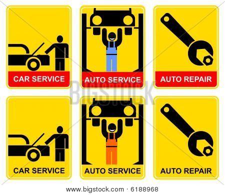 Auto serviço-sinal