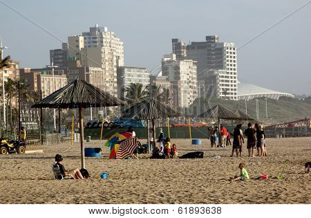 North Beach Beachfront In Durban South Africa