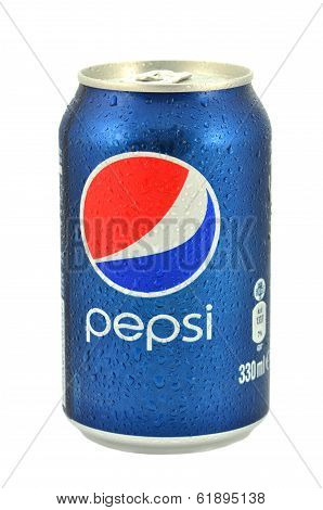 Can of Pepsi drink isolated on white