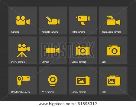 Camera icons.
