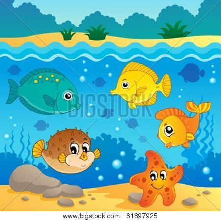 Underwater ocean fauna theme 4 - eps10 vector illustration.