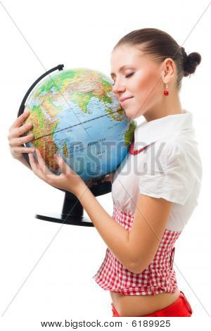 Woman Love The Planet Earth