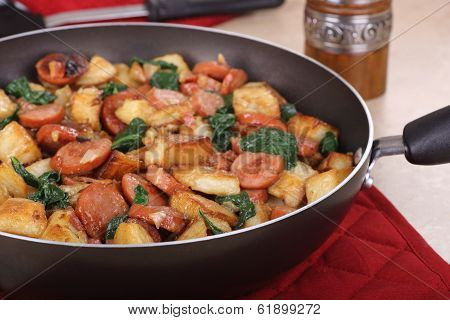 Sausage Potato Meal Closeup