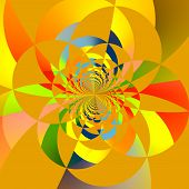picture of trippy  - Abstract Computer Generated Colorful Intersecting Circles Fractal - JPG
