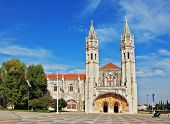 image of turret arch  - The Jeronimos monastery on the bank of the River Tagus in Lisbon - JPG