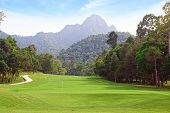 picture of langkawi  - A Landscape with Golf course and mountain - JPG