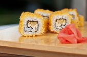 Japanese cuisine - hot sushi roll